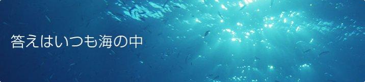答えはいつも海の中
