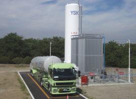 大東工場に設置されたLNGのサテライト基地