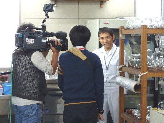 NHKのアンセリン取材風景1
