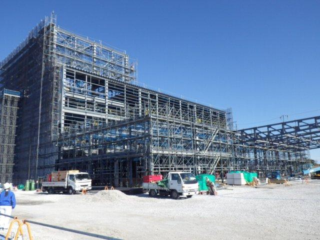 建設が進む焼津水産化学工業㈱の掛川新工場