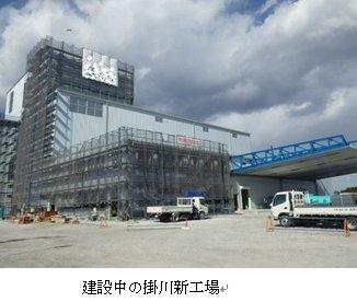 掛川新工場建設中
